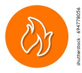 vector flame line icon | Shutterstock .eps vector #694778056