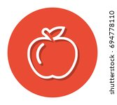 vector apple within a circle... | Shutterstock .eps vector #694778110