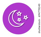 vector moon and stars in circle ... | Shutterstock .eps vector #694778140