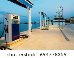 Port Gas Station Early In The...