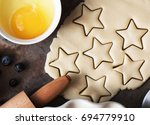 Cookies Stars Cut Out Of The...