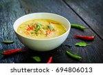 thai food  green curry chicken... | Shutterstock . vector #694806013