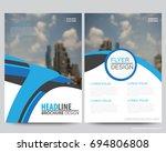 abstract vector modern flyers...   Shutterstock .eps vector #694806808