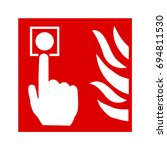 fire alarm call point | Shutterstock .eps vector #694811530
