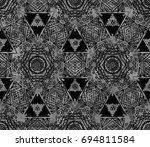 ethnic design. striped... | Shutterstock . vector #694811584