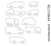 thin line cars icon set | Shutterstock .eps vector #694811728