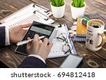 business accounting | Shutterstock . vector #694812418