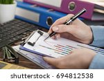 business accounting | Shutterstock . vector #694812538