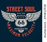 street soul   tee design for...   Shutterstock .eps vector #694812928