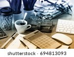 business accounting | Shutterstock . vector #694813093