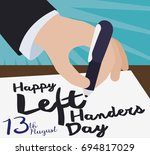 flat poster with a elegant... | Shutterstock .eps vector #694817029