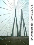 bandra worli sea link  mumbai ... | Shutterstock . vector #694823776