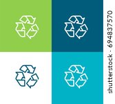 recycle green and blue material ...