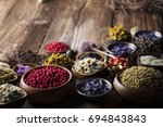 natural herbs medicine | Shutterstock . vector #694843843