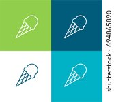 ice cream green and blue...