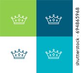 crown green and blue material...