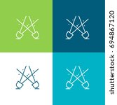 spotlight green and blue... | Shutterstock .eps vector #694867120