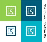 post stamp green and blue...