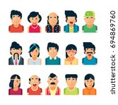colorful vector people avatar... | Shutterstock .eps vector #694869760