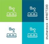 conveyor green and blue... | Shutterstock .eps vector #694877200