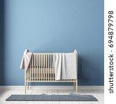mockup wall in the children's...   Shutterstock . vector #694879798