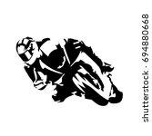 Road Motorcycle Rider  Abstrac...