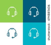 headset green and blue material ...