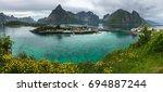 moskenes  reine  lofoten  norway   Shutterstock . vector #694887244