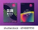 electronic music poster. modern ... | Shutterstock .eps vector #694889950