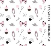 princess accessories pattern | Shutterstock .eps vector #694897183