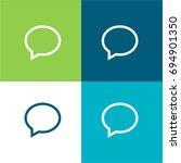 speech bubble message  green...