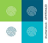fingerprint green and blue... | Shutterstock .eps vector #694904620