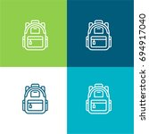 backpack green and blue...