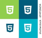 html5 green and blue material...