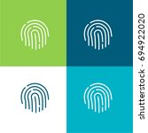 fingerprint green and blue...