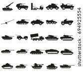 set army transport black... | Shutterstock .eps vector #694925554