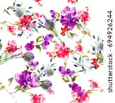 watercolor seamless pattern... | Shutterstock . vector #694926244