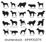 vector set of different breeds... | Shutterstock .eps vector #694931074