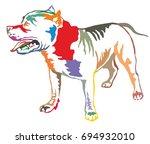 colorful decorative portrait of ...