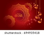 indian traditional festival... | Shutterstock .eps vector #694935418