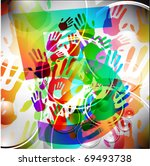 abstract colorful hand... | Shutterstock .eps vector #69493738