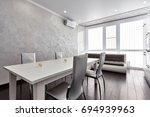kitchen living room | Shutterstock . vector #694939963