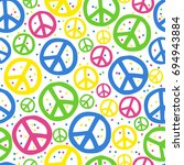 peace pin up and t shirt design | Shutterstock .eps vector #694943884
