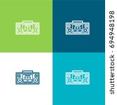boombox green and blue material ...
