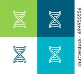 dna structure green and blue...