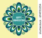 happy janmashtami  indian... | Shutterstock .eps vector #694951054
