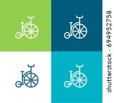 bycicle green and blue material ...