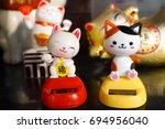 maneki neko or japanese lucky...   Shutterstock . vector #694956040