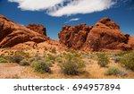 Aztec Sandstone Rock Formation...