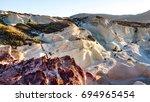 moon landscape   mineral...   Shutterstock . vector #694965454